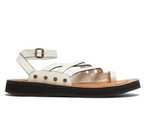 Chunky-sole Leather Sandals