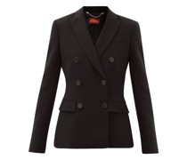Indiana Double-breasted Crepe Suit Jacket