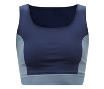 Joanna Two-tone Recycled-fibre Cropped Top