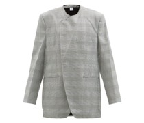 Oversized Prince Of Wales-check Twill Jacket