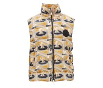 Monogram-print Quilted Down Gilet