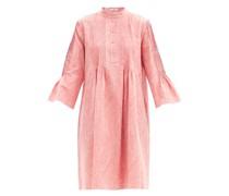 Raegan Pintucked Paisley Cotton-jacquard Dress