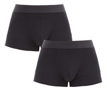 Pack Of Two Cotton-blend Boxer Briefs