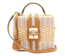 Harley Rattan Wicker And Leather Box Bag