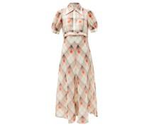 Eugenie Check Silk-blend Voile Shirt Dress