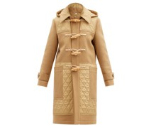 Quilted-panel Wool-blend Duffle Coat