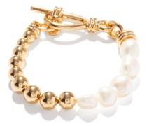 Baroque Pearl & 18kt Gold-plated Bracelet