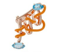 Crawler Diamond, Topaz & 9kt Rose-gold Ear Cuff