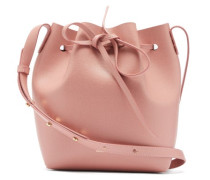 Mini Saffiano-leather Bucket Bag