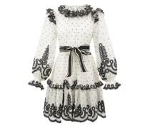 Lovestruck Ruffled Linen-blend Organdy Mini Dress