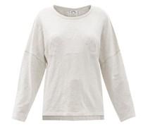 Hazel Cotton-mélange Long-sleeved T-shirt