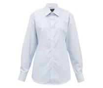 Supraluxe Hairline-striped Cotton-poplin Shirt