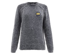 Logo-patch Lurex Sweater