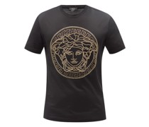Medusa-stud Cotton-jersey T-shirt