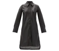 Remi Faux-leather Shirt Dress