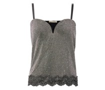 Crystal-embellished Chainmail Top