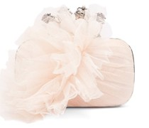 Four Ring Tulle And Satin Box Clutch