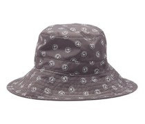 Smiling Face-print Recycled-fibre Bucket Hat