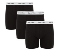 Pack Of Three Stretch-cotton Boxer Trunks