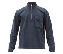 High-neck Half-zip Cotton-jersey Sweatshirt