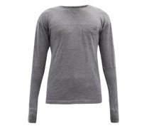 Crew-neck Panelled Cashmere Sweater