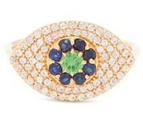 Blossom Drops Eye Sapphire & 18kt Gold Ring