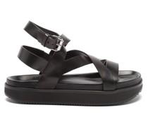 Nerise Leather Flatform Sandals