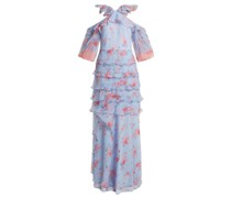 Alisanna Ruffle-trimmed Silk Dress
