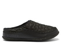 Lanner Ridge Quilted-shell And Leather Slippers