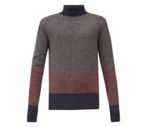 Talbot Colour-block Roll-neck Wool Sweater