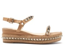 Pyraclou 60 Jute And Leather Flatform Sandals