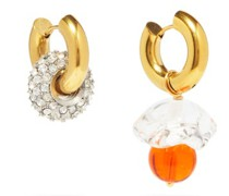Mismatched Silver & 24kt Gold-plated Earrings
