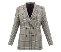 Mathilde Checked Wool-seersucker Blazer