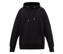 Felt-patch Cotton-jersey Hooded Sweatshirt