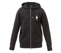 4g-padlock Cotton-jersey Hooded Sweatshirt