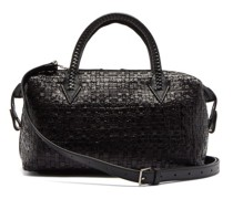 Perriand City Small Woven-leather Bag