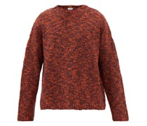 Anagram-patch Slubbed Wool-blend Sweater