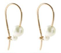 Akoya-pearl & 14kt Gold Hook Earrings
