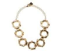 Bamboo Crystal Brass Necklace
