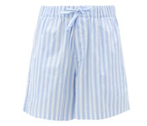 Striped Organic-cotton Poplin Shorts