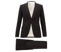 Grosgrain-trim Wool-blend Twill Tuxedo Suit