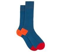 Portobello Ribbed-knit Socks