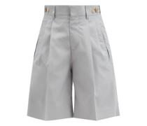 Richard Pleated Silk Suit Shorts