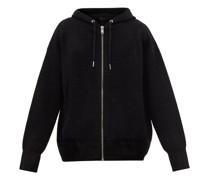 4g-jacquard Zipped Hooded Sweatshirt