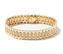 Diamond & 18kt Gold Rail-link Bracelet