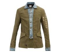 Ollie Cotton-canvas And Denim Jacket