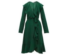 Exauce Ruffled Silk-satin Dress