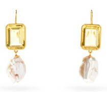 Aegean Gold-plated Drop Earrings