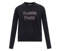 Flower Power Merino-wool Sweater