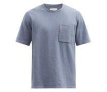 Patch-pocket Slubbed Cotton T-shirt